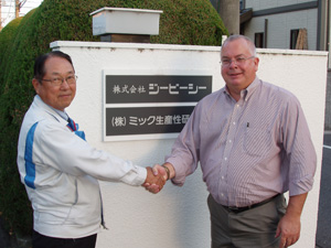 Jeff Sipes with customer in Japan
