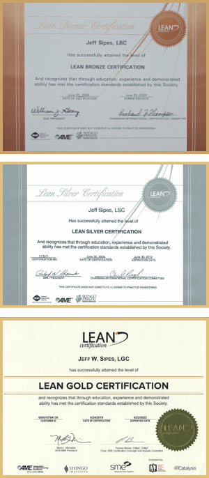 Lean Gold Certification